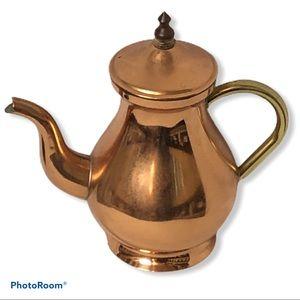 Vintage Portuguese solid copper teapot